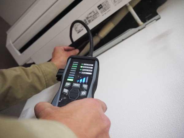 エアコン工事の際のガス漏れチェック