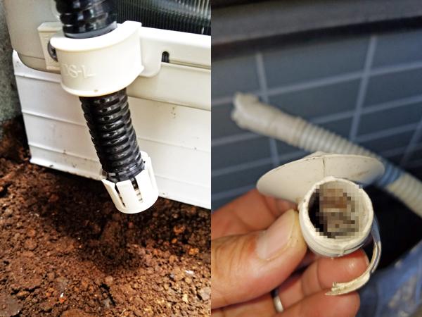 エアコン工事の際の害虫侵入防止