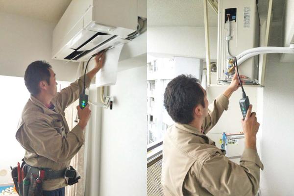 設置工程 その7:「ガス漏れ」 × 「チェック」